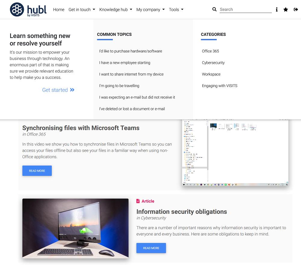 hubl customer portal